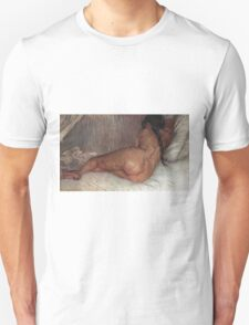 Vincent Van Gogh - Nude Woman Reclining, Seen From  Back, 1887 Unisex T-Shirt