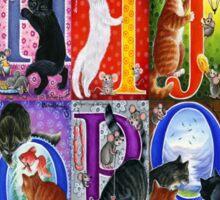 Cats Alphabet Sticker