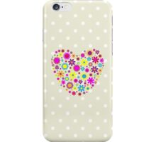 Hearts, Flowers, Petals - Pink Blue Yellow Purple iPhone Case/Skin