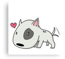 Cutie Bull Terrier Canvas Print