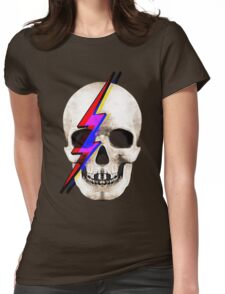 Skull David Bowie Womens Fitted T-Shirt