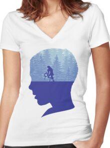 Stranger Things  Women's Fitted V-Neck T-Shirt