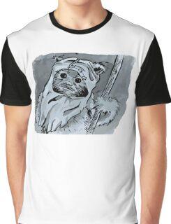 Ewok!! Mixed Media Illustration  Graphic T-Shirt