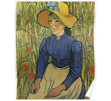 Vincent Van Gogh - Peasant Girl With Yellow Straw Hat, 1890 Poster
