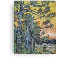 Vincent Van Gogh - Pine Trees Against An Evening Sky, 1889 Canvas Print