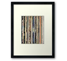 Record Collector Beatles Stones Dylan Vinyl  Framed Print