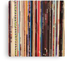 Vinyl Records Indie Rock  Canvas Print