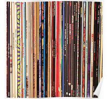 Vinyl Records Indie Rock  Poster