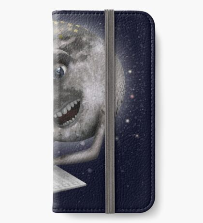 The Moon learning to sing iPhone Wallet/Case/Skin