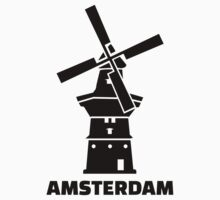 Amsterdam windmill One Piece - Long Sleeve