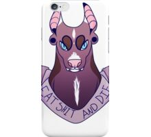 Eat shit and die pitbull  iPhone Case/Skin