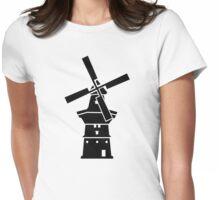 Dutch windmill Womens Fitted T-Shirt