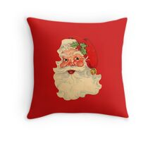 Santa Claus, Vintage Drawing Throw Pillow