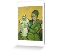 Vincent Van Gogh - Portrait Of Madame Augostine Roulin And Baby, 1888 Greeting Card