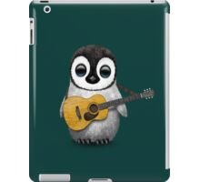 Musical Baby Penguin Playing Guitar Teal Blue iPad Case/Skin
