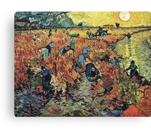 Vincent Van Gogh - Red Vineyards  Canvas Print