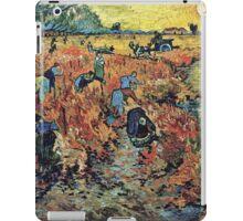 Vincent Van Gogh - Red Vineyards  iPad Case/Skin
