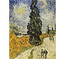 Vincent Van Gogh - Road With Cypresses 1890  Photographic Print