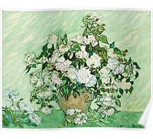 Vincent Van Gogh - Roses 1890  Poster