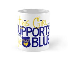 This Girl Supports The Blue Police Mug