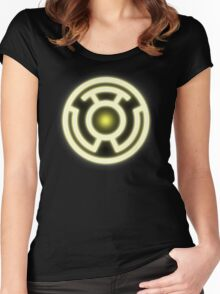 YELLOW LANTERN - FEAR! Women's Fitted Scoop T-Shirt