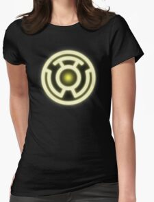 YELLOW LANTERN - FEAR! Womens Fitted T-Shirt