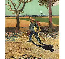 Vincent Van Gogh - Self Portrait On  Road To Tarascon ( Painter On His Way To Work), 1888 Photographic Print