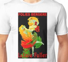 LOIE FULLER; Vintage Follies Bergere Advertising Print. Unisex T-Shirt