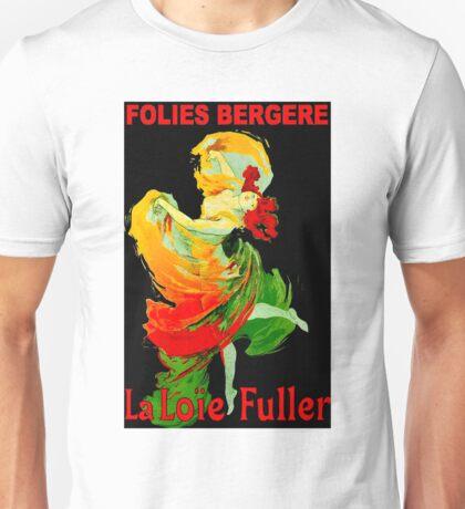 LOIE FULLER; Vintage Follies Bergere Advertising Print. Unisex T-Shirt