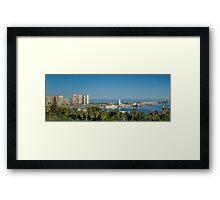 Panorama of Malaga port Framed Print