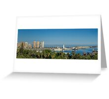 Panorama of Malaga port Greeting Card