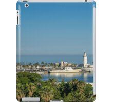 Panorama of Malaga port iPad Case/Skin