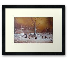Yuletide (A Wizard Bearing Gifts) Framed Print