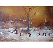 Yuletide (A Wizard Bearing Gifts) Photographic Print
