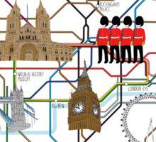 Map of London Sticker