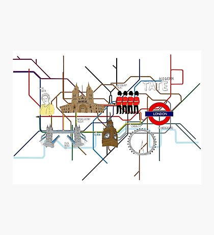 Map of London Photographic Print