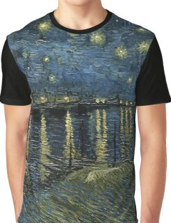 Vincent Van Gogh - Starry Night, 1888  Graphic T-Shirt