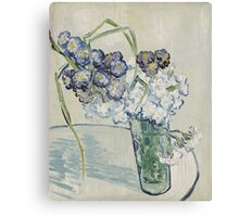 Vincent Van Gogh - Still Life Glass With Carnations, 1890 Canvas Print