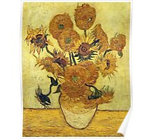 Vincent Van Gogh - Sunflowers 1888  Poster