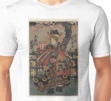 Anonymous - courtesan Hanamurasaki of Tama-ya - Circa 1855 - Woodcut Unisex T-Shirt
