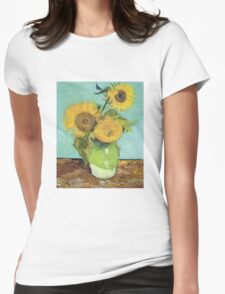 Vincent Van Gogh - Sunflowers, 1888 Womens Fitted T-Shirt