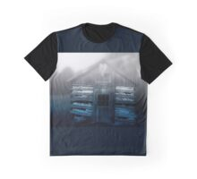 Old Barn in the Fog Graphic T-Shirt