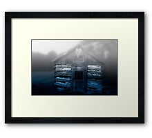 Old Barn in the Fog Framed Print