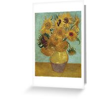 Vincent Van Gogh - Sunflowers, 1889 Greeting Card