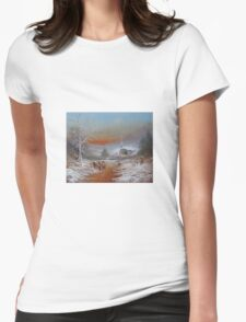 Snowballs! Womens Fitted T-Shirt