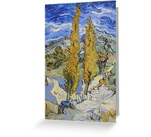 Vincent Van Gogh - Two Poplars On A Hill, 1889 Greeting Card