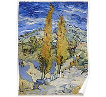 Vincent Van Gogh - Two Poplars On A Hill, 1889 Poster