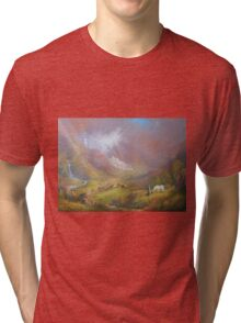 War Approaches (The white city). Tri-blend T-Shirt