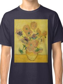 Vincent Van Gogh - Vase With Fifteen Sunflowers, 1889 Classic T-Shirt