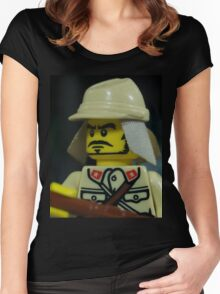 Lego Japanese Soldier Women's Fitted Scoop T-Shirt